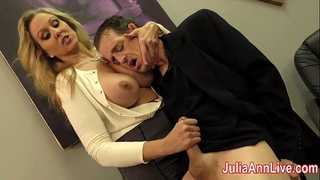 Julia ann milks stepson previous to his date!