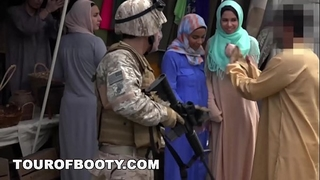 Tour of butt - operation cum-hole run with soldiers in the midst east!