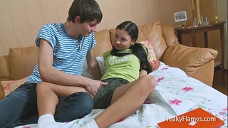 Homework for hawt fantasy teenie ends in large engulf & fuck fest in cookie untill facial