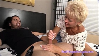 Swingers nasty auntie cook jerking